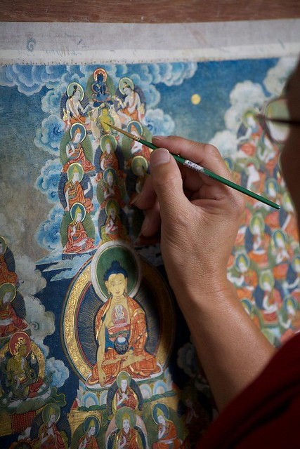 Restoration work. Image courtesy Princess Ashi Kesang