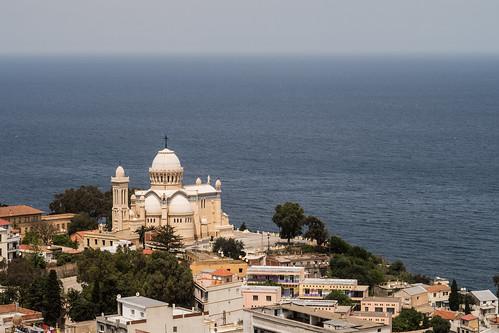 sea church algeria mediterranean view cathedral notre dame algiers dafrique