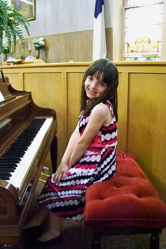 Julia at her Suzuki book one piano recital