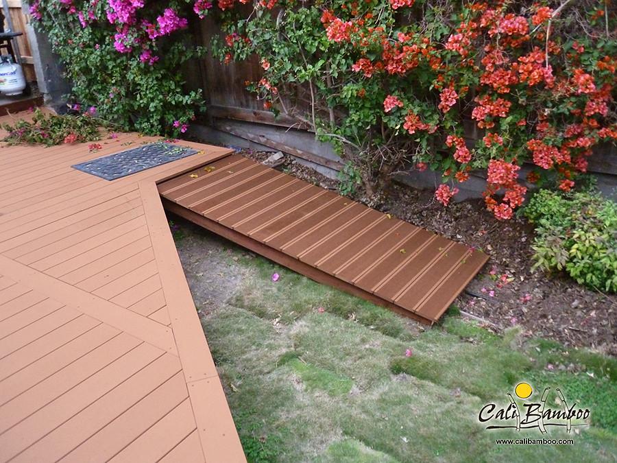 Composite decking review john c caramel bamdeck for Composite decking reviews