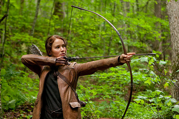 Jennifer Lawrence aims to impress in THE HUNGER GAMES.
