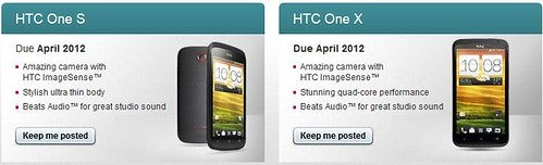 T-Mobile UK HTC One X and HTC One S