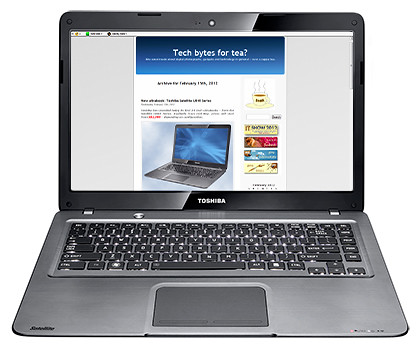 Toshiba Satellite U840 Series ultrabook - portability and performance.