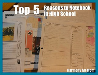 Notebook Pages - High School Button