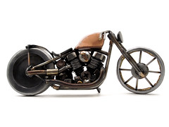 Panhead Bobber (metal art sculpture)