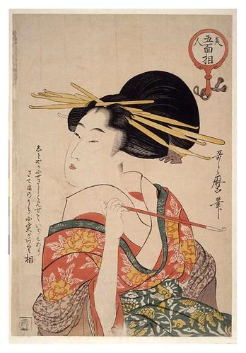 010-Mujer sosteniendo una pipa 1803-1804-Kitagawa Utamaro-NYPL