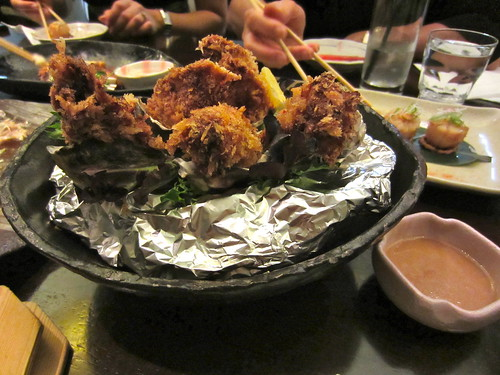 Ha-Lu Fried Oysters with Ponzu Vinaigrette