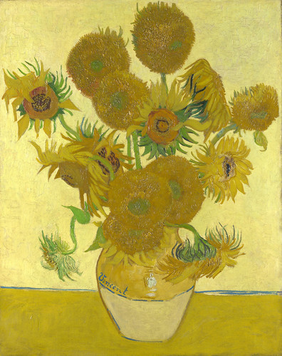 Vincent van Gogh - Sunflowers [1888] by Gandalf's Gallery