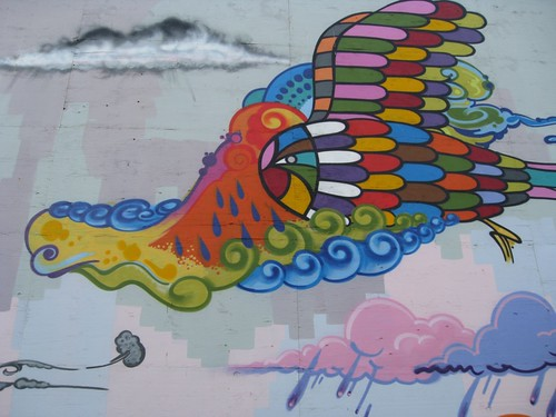 rainbow bird (mural detail)