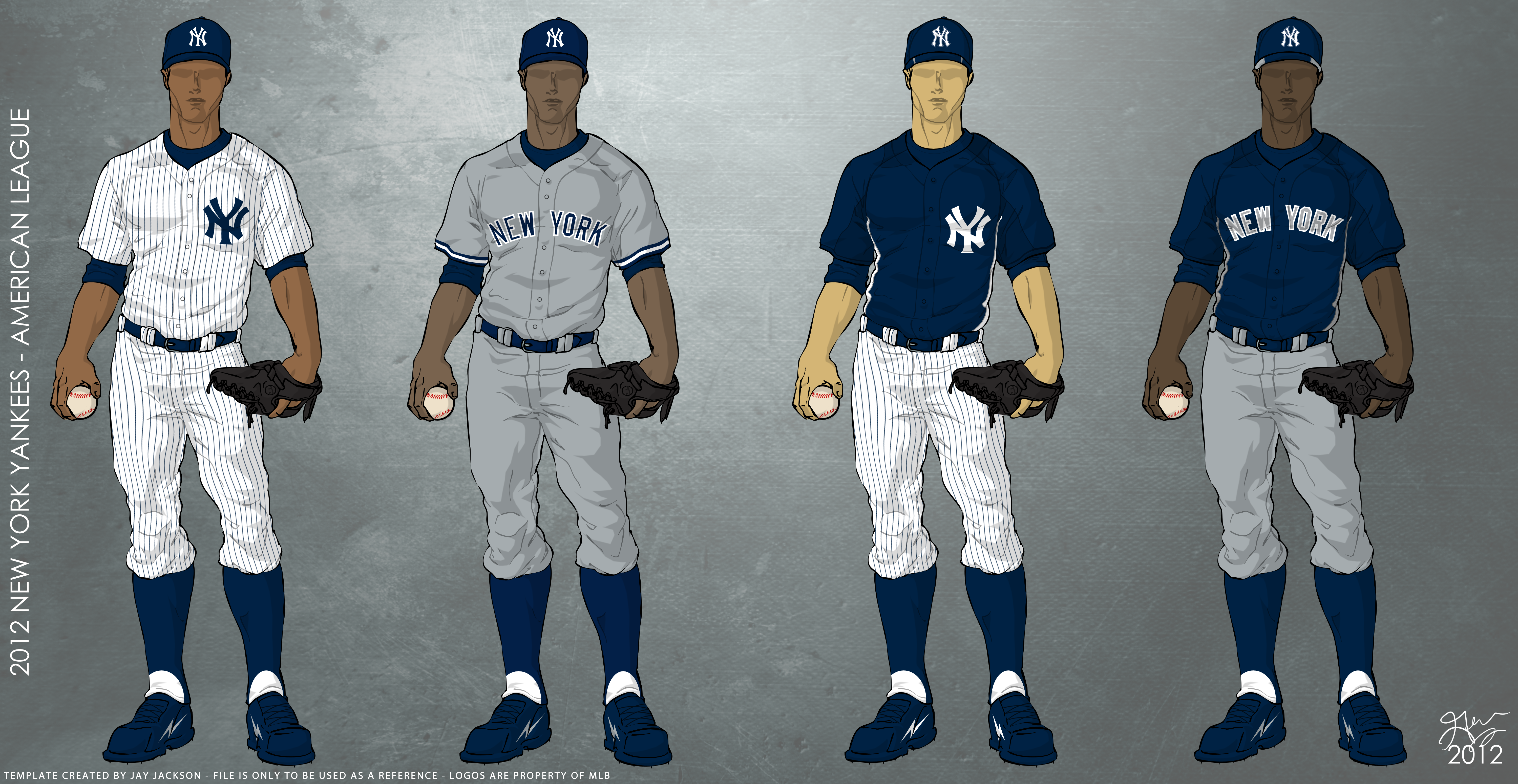 New York Yankees 2012 Uniforms Uniforms To Be Worn For