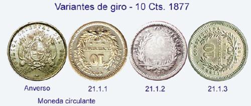 Variantes de gito 10 Cts 1877