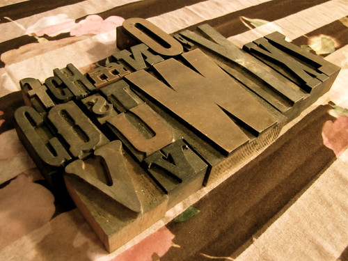 My collection of wood type