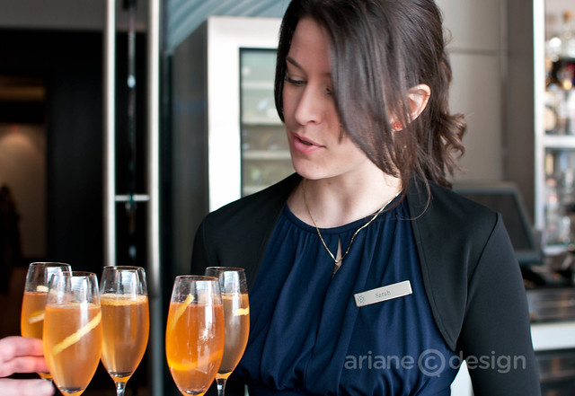 Serving up the evening's signature cocktail, the Aperitivo Milano