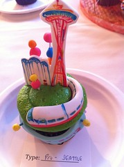 Space Needle cupcake! by Rachel from Cupcakes Take the Cake