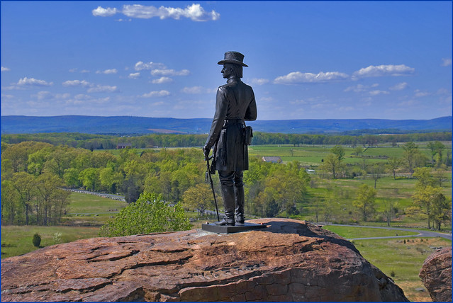 Union General Gouverneur Warren on Little Round Top -- Gettysburg National Military Park (PA) 2012
