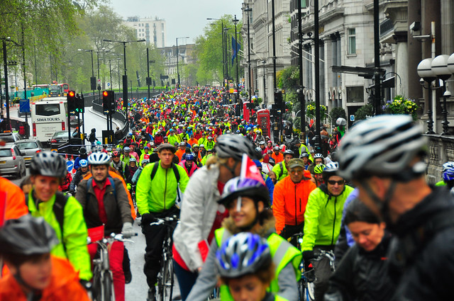 The Big Ride - so many cyclists