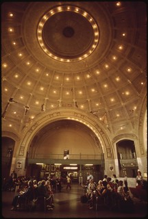 Interior of the Tacoma, Washington train depot, July 1974