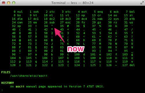 Terminal — less — 80×24