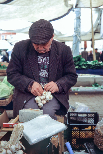 Tying up Garlic