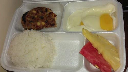 chicken ensalada and egg breakfast
