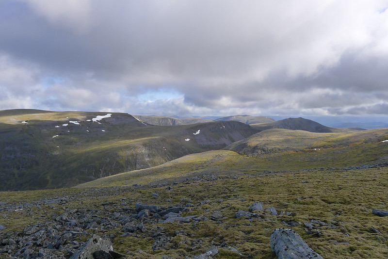 Looking across to Gael-Charn and Carn Dearg
