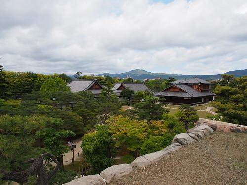 二条城 天守閣跡からの眺望