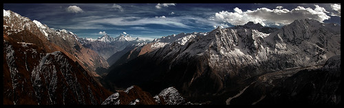 nepal panorama trek landscape doug hill panoramic around himalaya sama manaslu mountainscapes samagaon kofsky samagaun