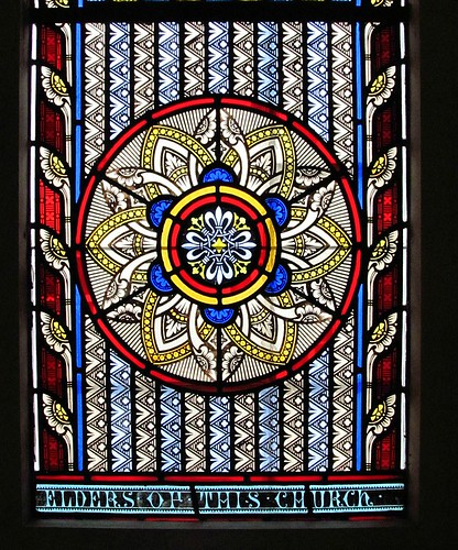 St Andrews stained glass closeup