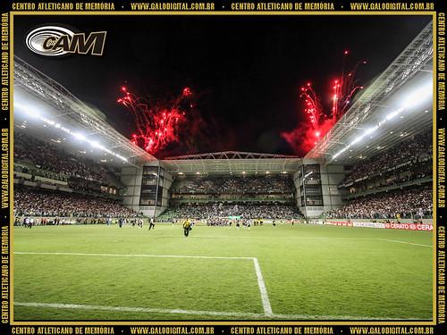Torcida do Atlético após a reinauguração do estádio.