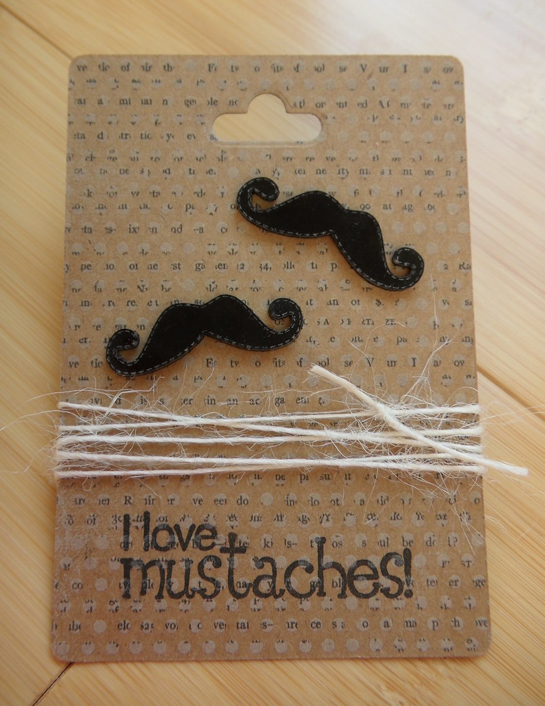 shrinky dink mustache earrings
