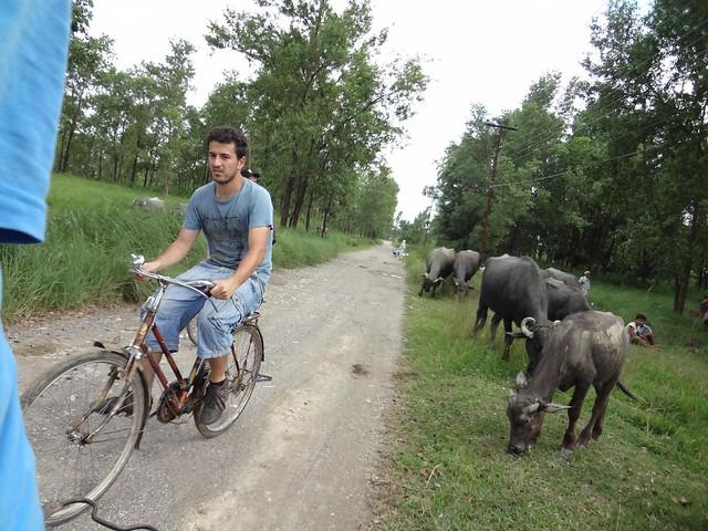 Alugar bicicleta em Lumbini, Nepal