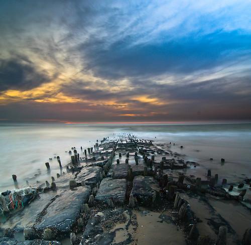 longexposure nightphotography sunset sea beach night canon landscape coast nightshot belgium belgique belgie nacht tokina oostende nuit dri 1224 landschap flanders belgien landschapsfotografie vertorama 1000d