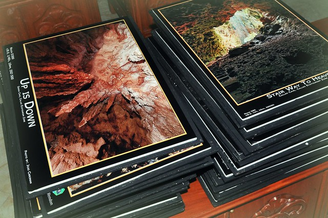 framed photograhs of Callao Caves