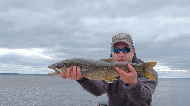 Andrew's first Lake Trout on the fly!