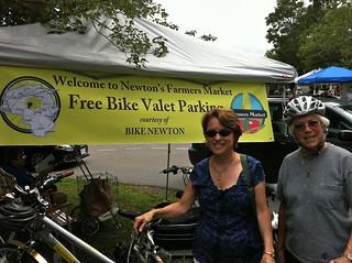 Helen Rittenberg at the Cold Spring Farmers Market Bike Valet Parking