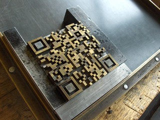 The letterpress QR-Code generator