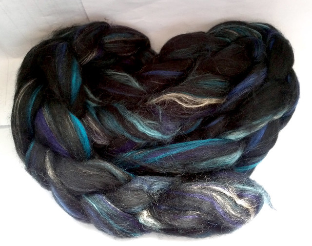 Dyeing for Colour Superwash Soysilk Seacell Silk Bamboo Blend - Edge of the Universe Colorway