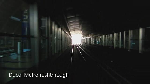 Dubai Metro rushthrough