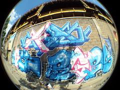 art, world, fisheye lens, blue,