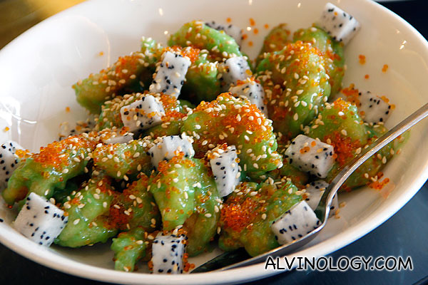 Fried Prawns in Wasabi Sauce dressed with Fruits (RM 32++ Small, RM 60++ Medium)