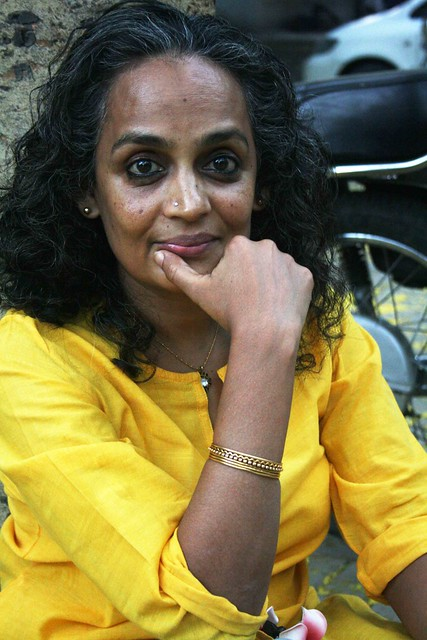 City Sighting - Arundhati Roy, Near Khanna Market