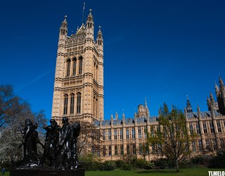 """The Burghers of Calais"" - Palace of Westminster - London - England"