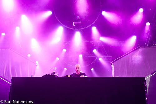 Pinkpop 2012 mashup foto - Paul Kalkbrenner op Pinkpop 2012