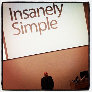 "It's not often you get an insiders view from Apple. Honored to hear Ken Segall talk about his experience and book, ""Insanely Simple... The Obsession That Drives Apple's Success"""