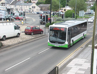 TrawsCymru-liveried Optare Tempo bus in Haverfordwest on the 412 service.