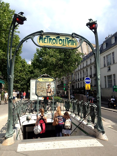 Metro in Place Pigalle