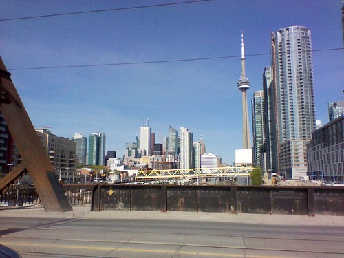 Looking east at downtown Toronto from Bathurst Street (3)