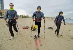 Los participantes se preparan para su aventura.