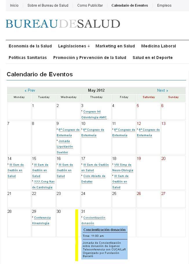 Site Bureau de Salud 31-05-12
