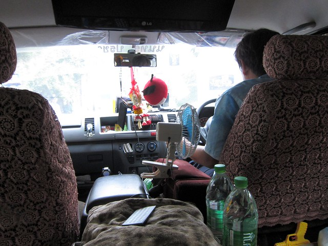 Inside Mr. Chim's van